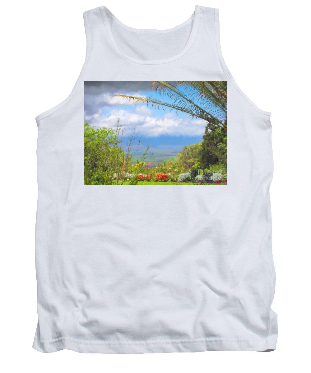 Kula Tank Top featuring the photograph Maui Botanical Garden by Peggy Hughes