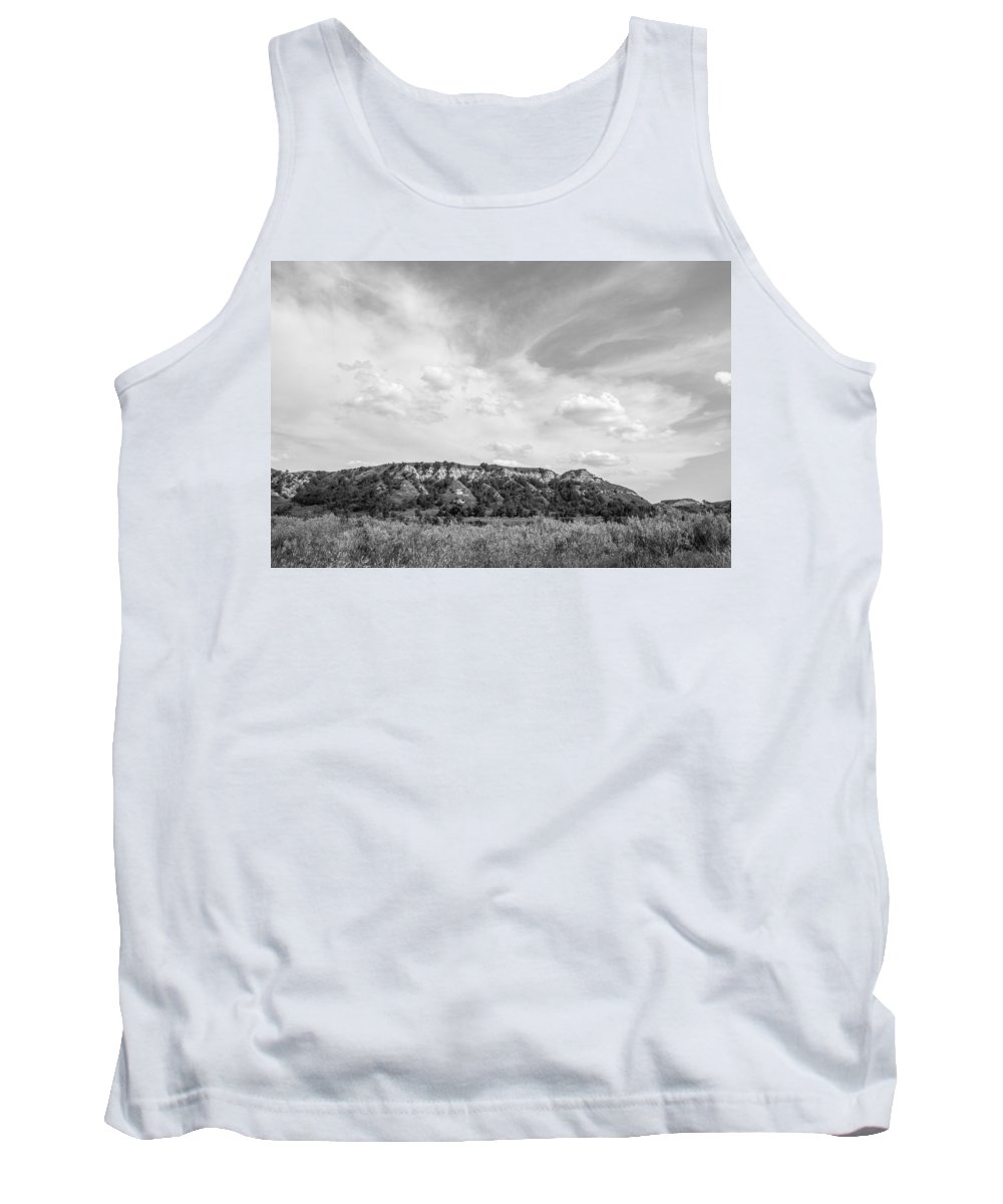 Badlands Tank Top featuring the photograph Medora 41 by Chad Rowe