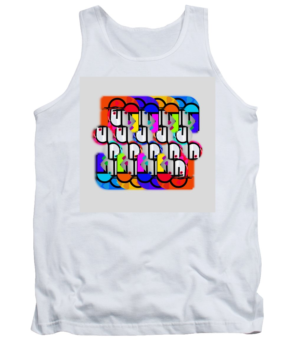 Urban Tank Top featuring the painting Metropolis by Charles Stuart