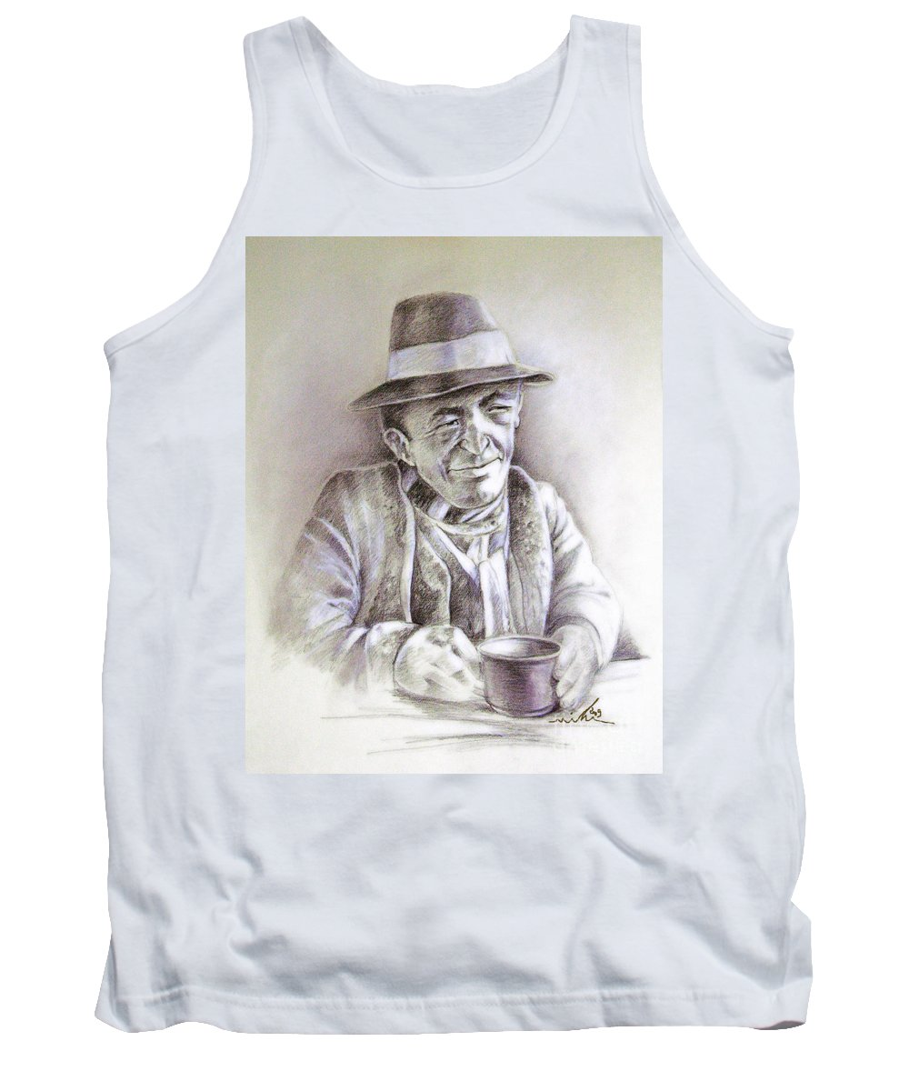 Portrait Michael Anderson Tank Top featuring the painting Michael J Anderson by Miki De Goodaboom