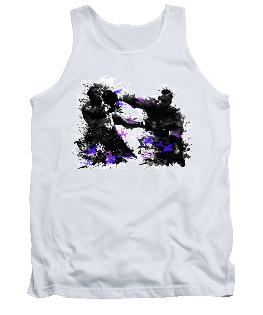 Mike Tyson Tank Top featuring the painting Mike Tyson by Bekim Art