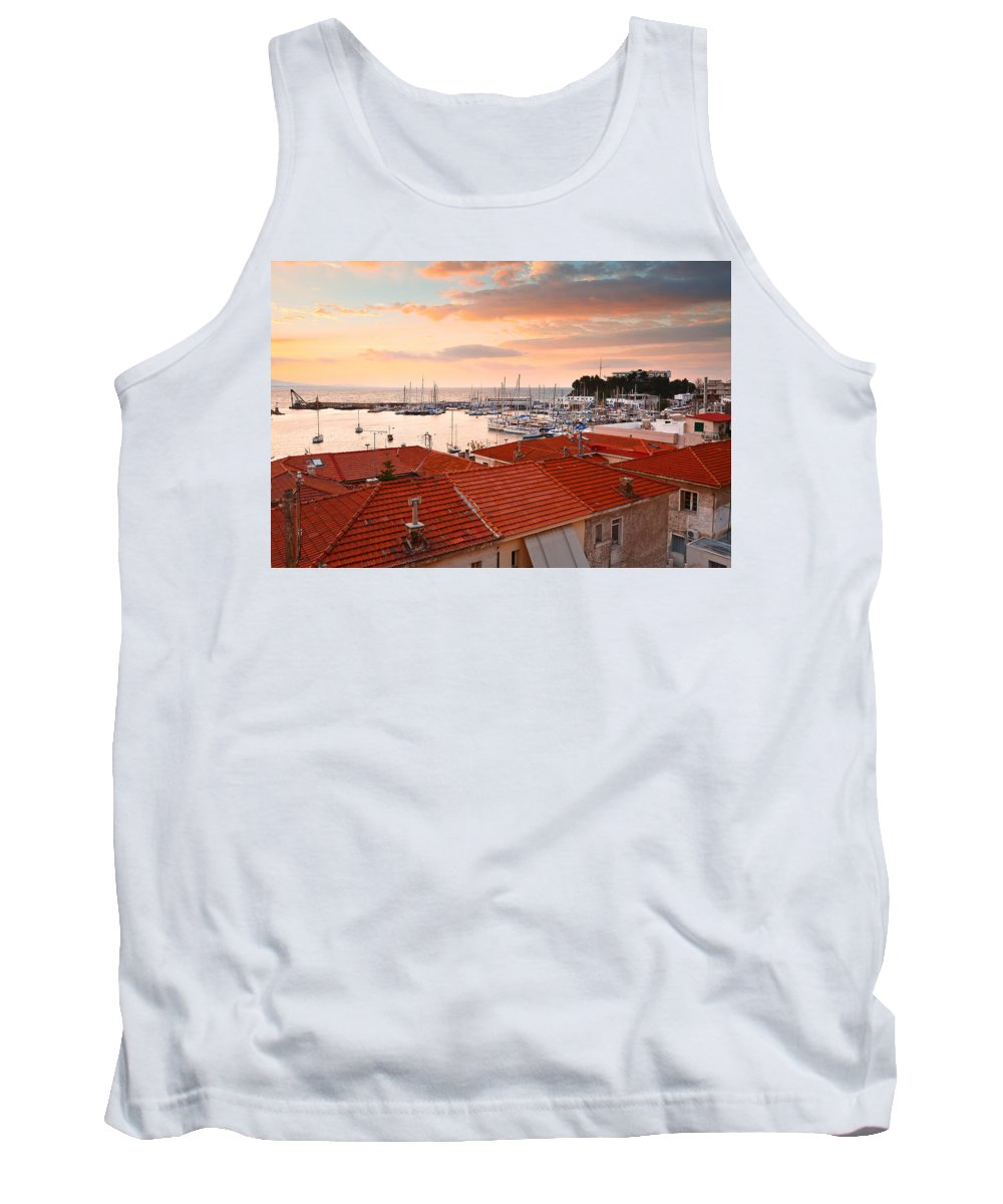 Athens Tank Top featuring the photograph Mikrolimano In Piraeus by Milan Gonda