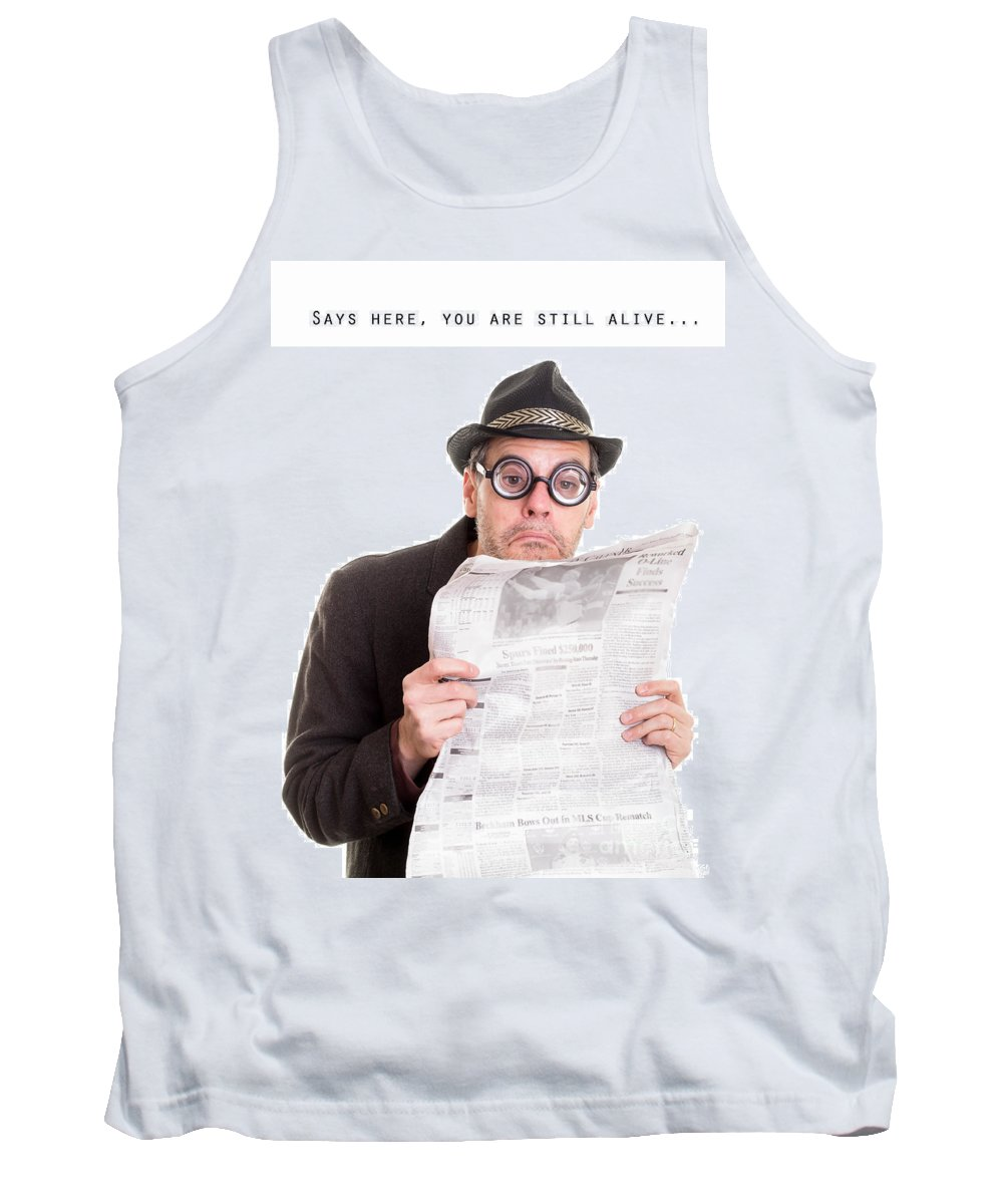 Friend Tank Top featuring the photograph Miss You In The Funny Papers by Edward Fielding