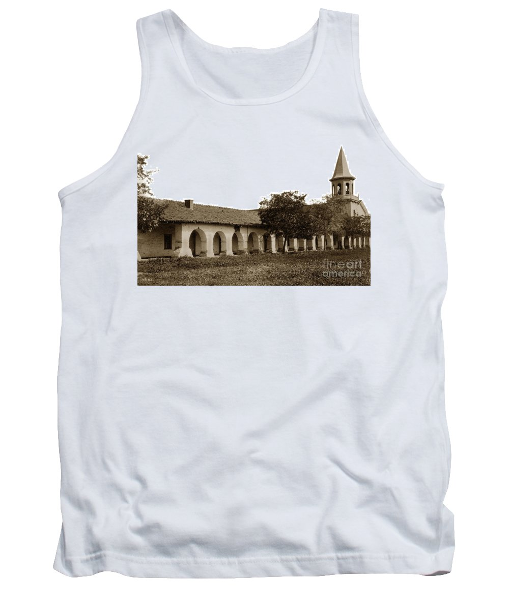 Mission San Juan Bautista Tank Top featuring the photograph Mission San Juan Bautista San Benito County Circa 1905 by California Views Mr Pat Hathaway Archives