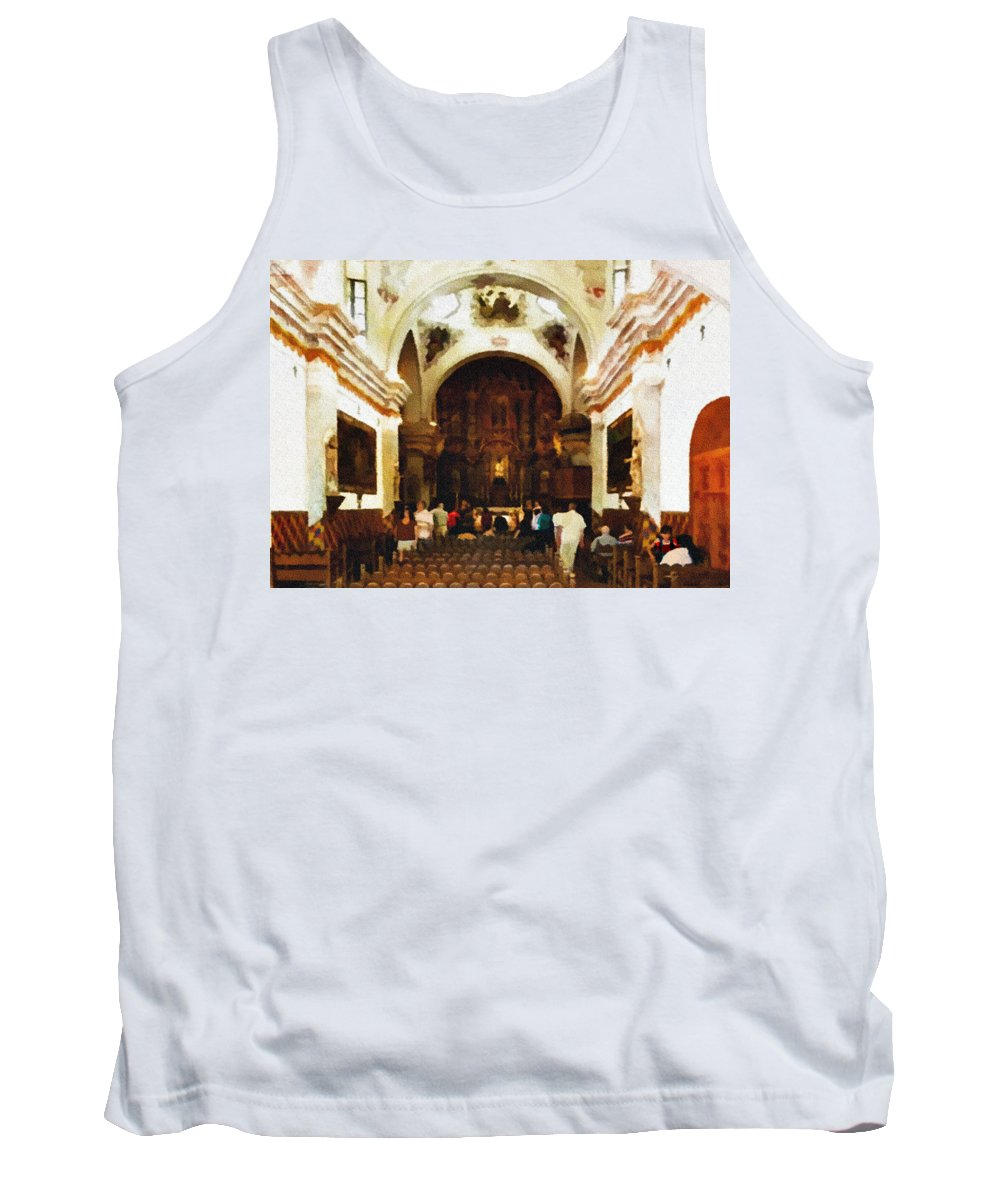 Altar Tank Top featuring the photograph Mission San Xavier Del Bac by Bob and Nadine Johnston