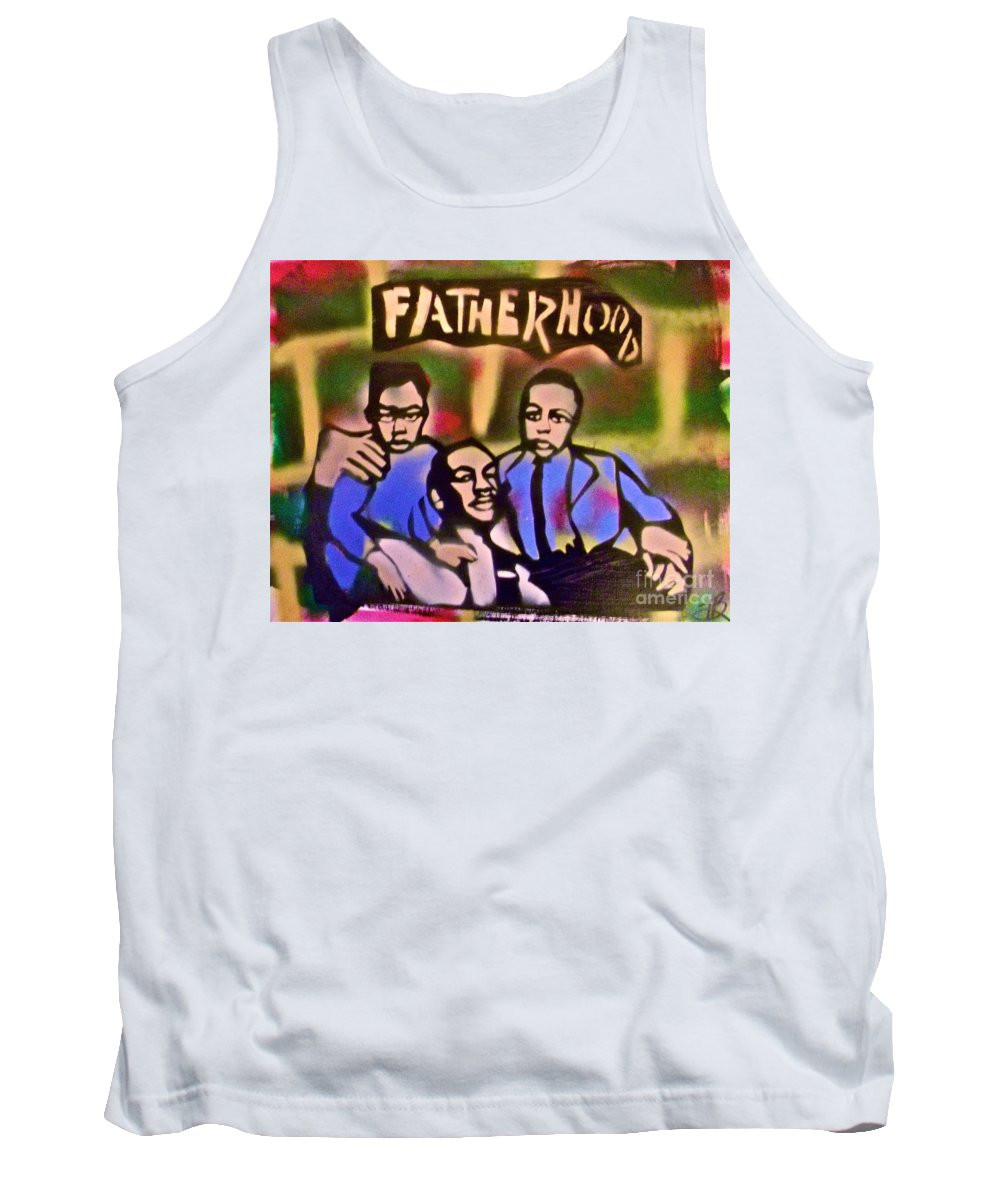 Occupy Tank Top featuring the painting Mlk Fatherhood 2 by Tony B Conscious