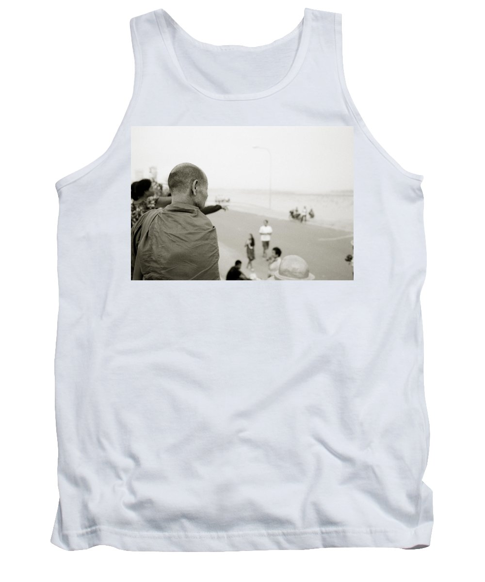 Asia Tank Top featuring the photograph Monk In Vientiane by Shaun Higson