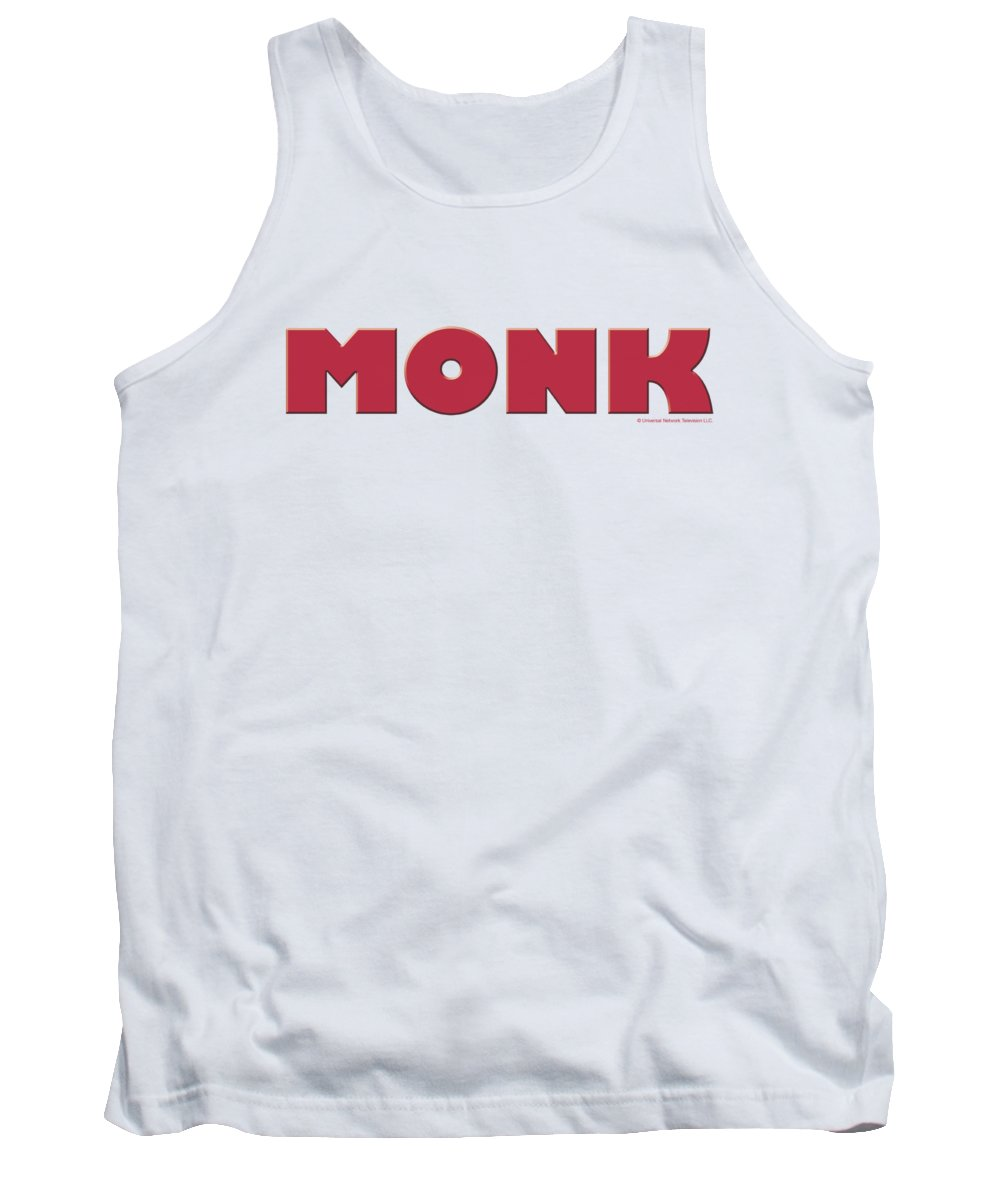 Monk Tank Top featuring the digital art Monk - Logo by Brand A