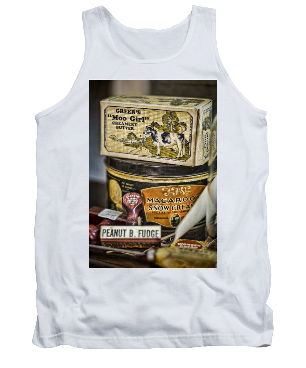 Vintage Tank Top featuring the photograph Moo Girl by Heather Applegate