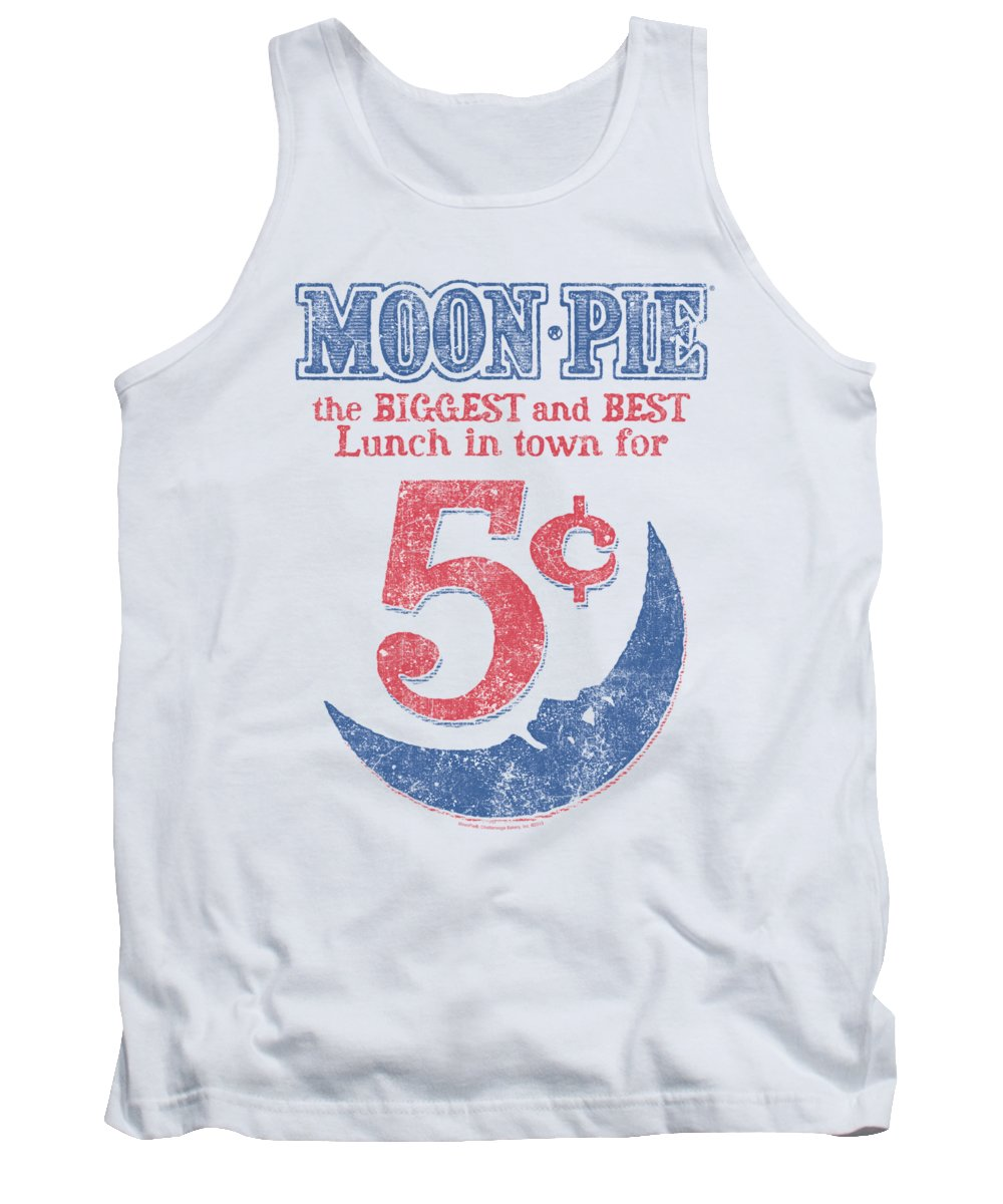 Moon Pie Tank Top featuring the digital art Moon Pie - - Lunch Munch by Brand A