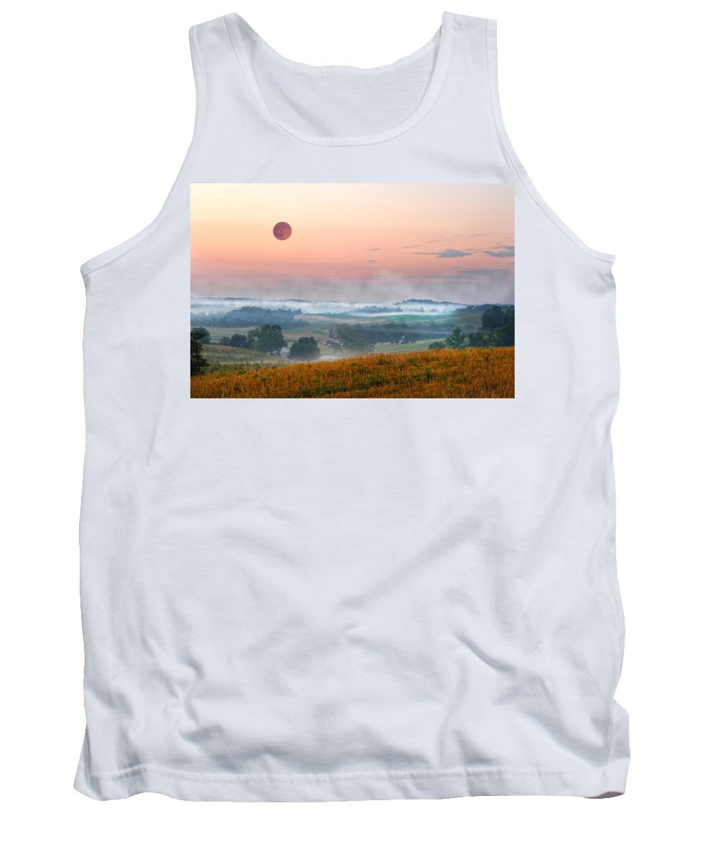 Moon. Valley Tank Top featuring the photograph Moon Valley Morning by Randall Branham
