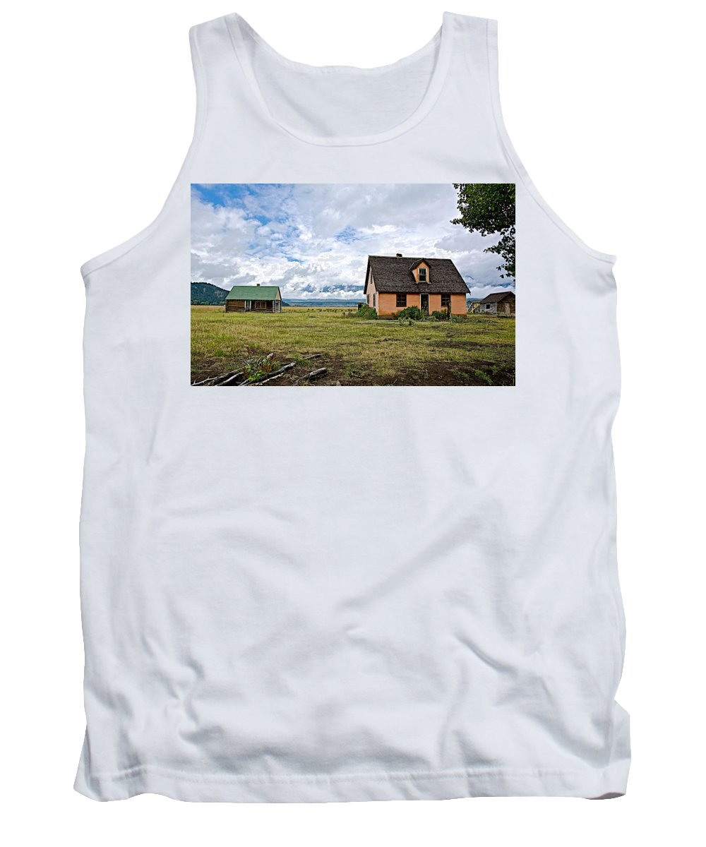 Mormon Row Historic District In Grand Teton National Park Tank Top featuring the photograph Mormon Row Historic District In Grand Tetons National Park-wyoming by Ruth Hager