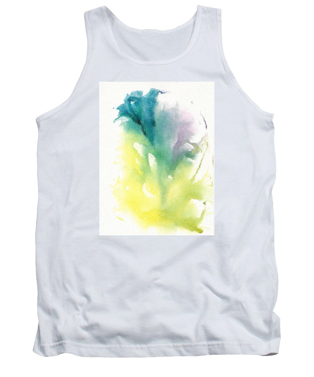 Watercolor Painting Tank Top featuring the painting Morning Glory Abstract by Frank Bright