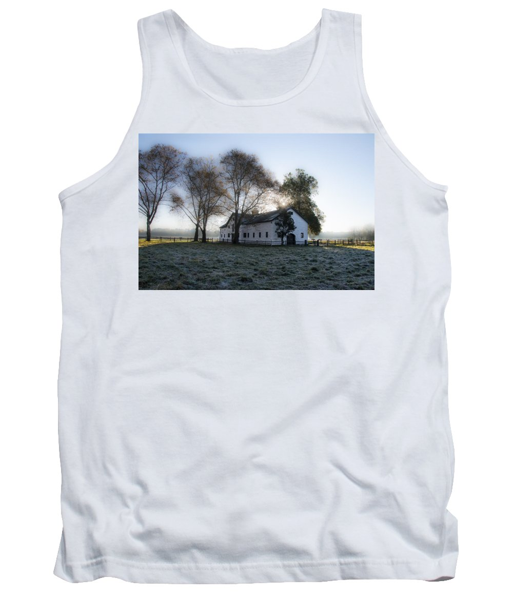 Morning Tank Top featuring the photograph Morning In Whitemarsh - Widener Farms by Bill Cannon