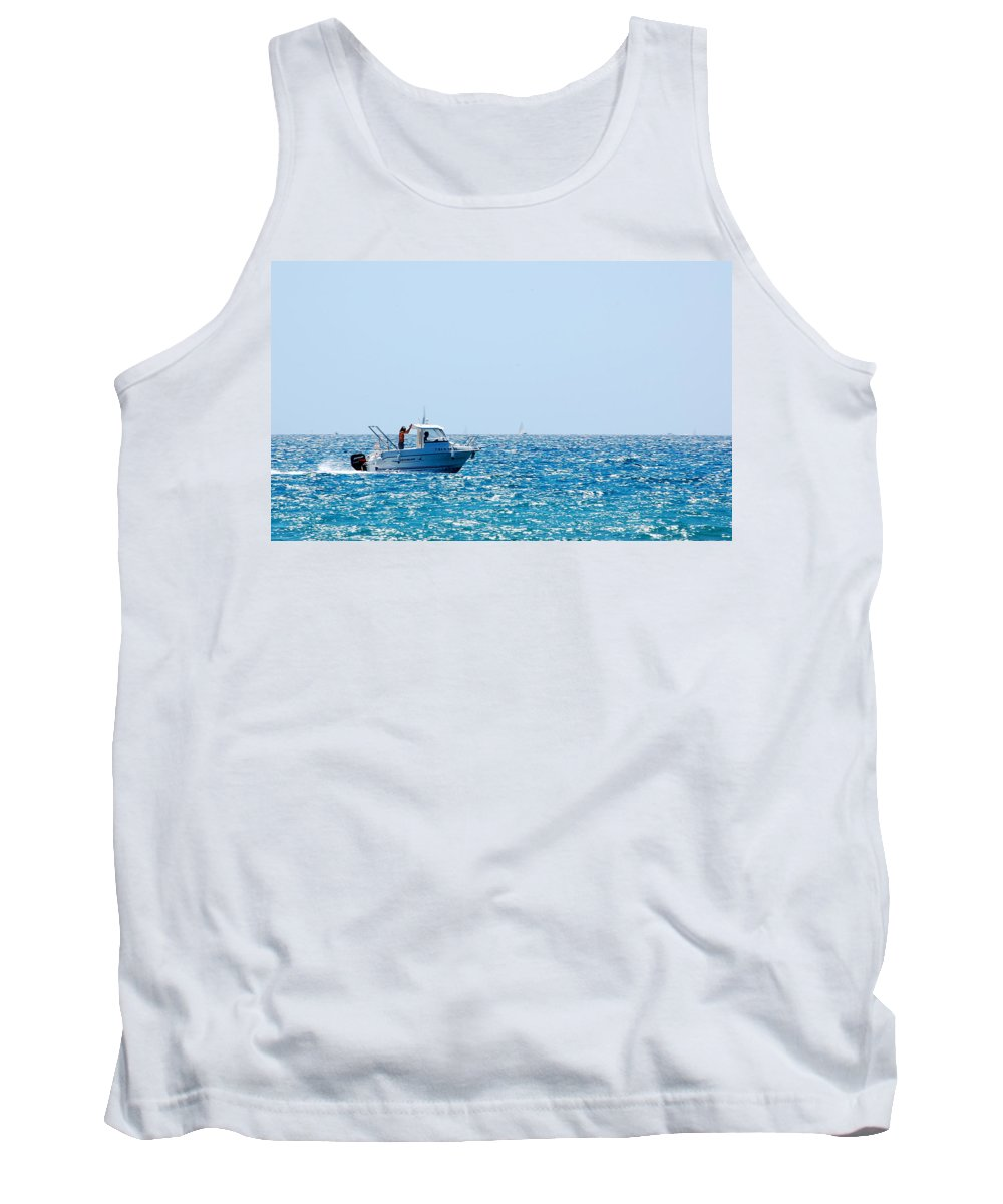 Motorboat Tank Top featuring the photograph Motorboat by Gina Dsgn