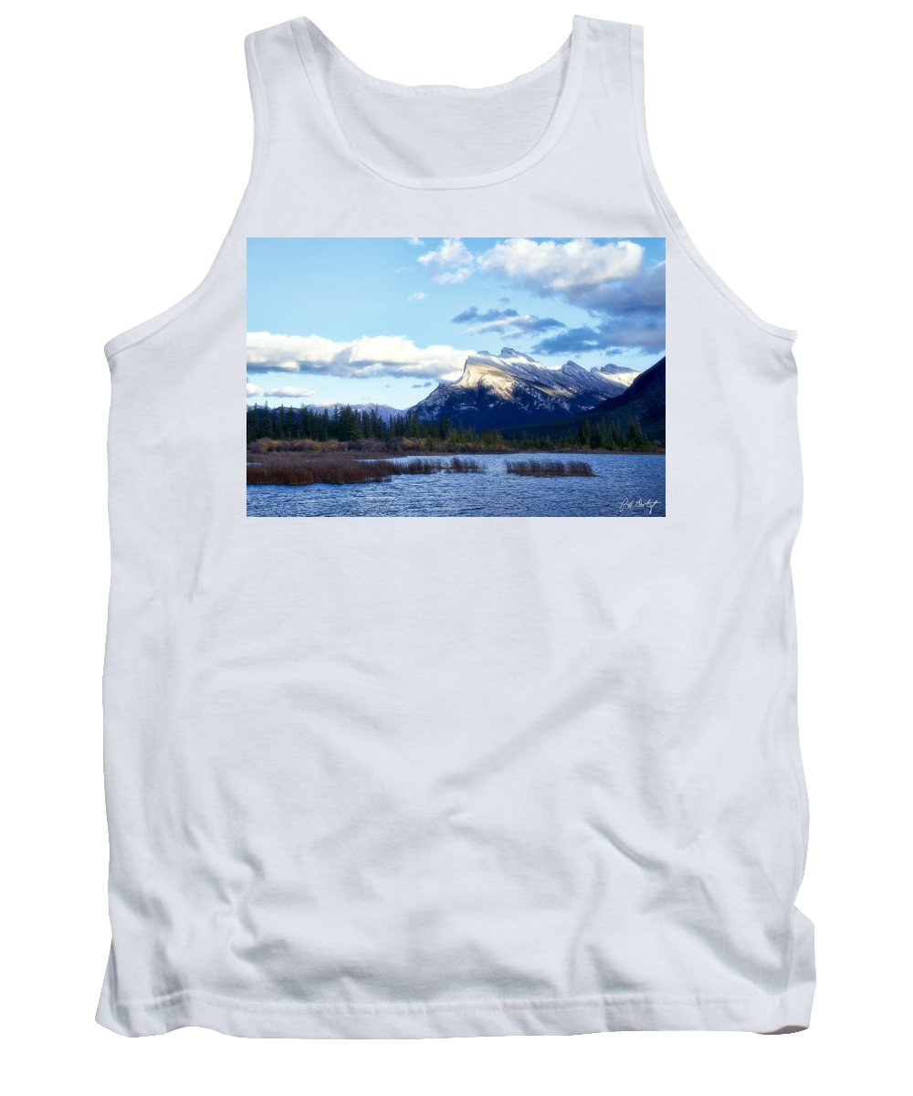 Alberta Tank Top featuring the photograph Mount Rundle by Phill Doherty