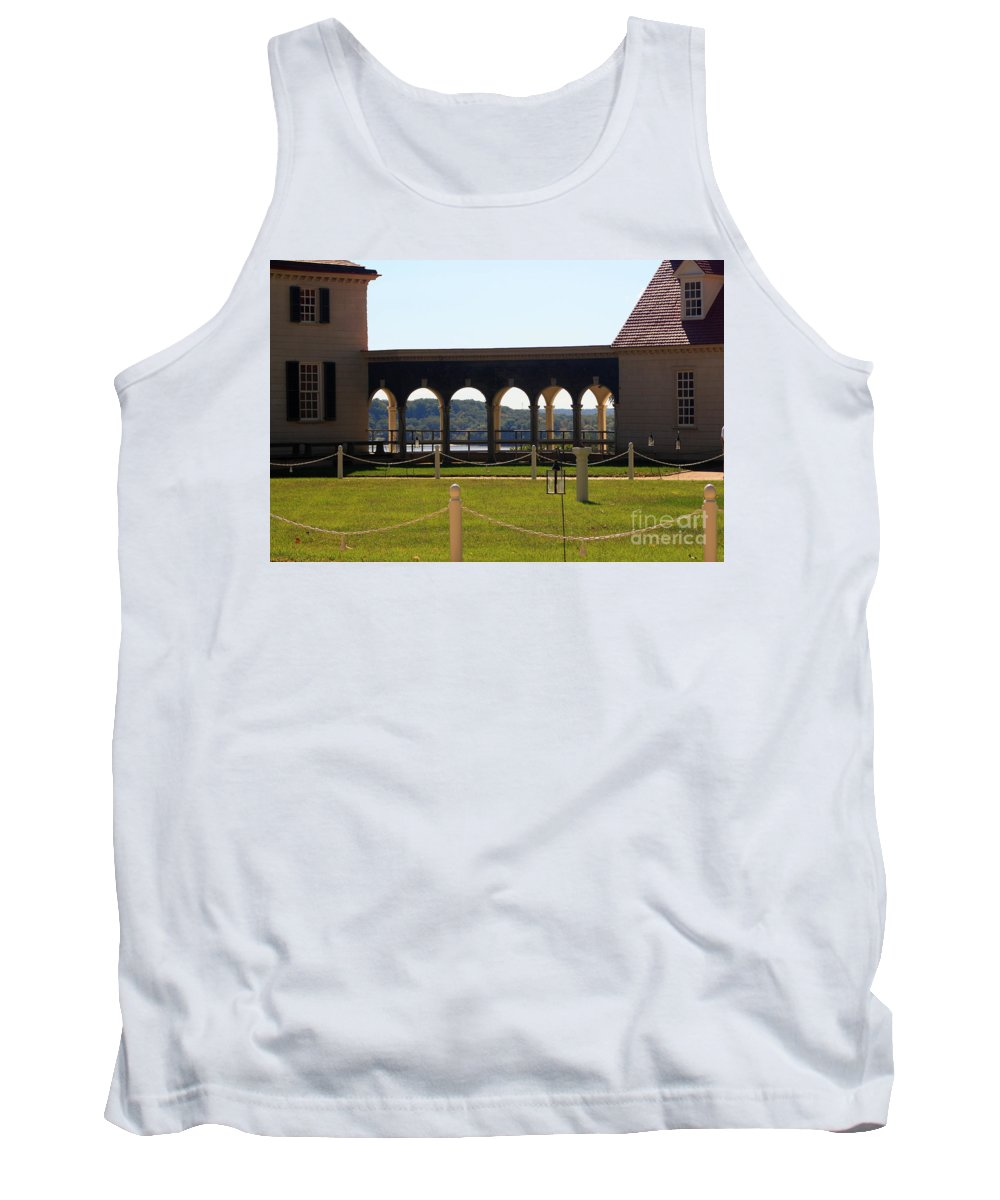 Mount Vernon Colonnade Tank Top featuring the photograph Mount Vernon Colonnade by Patti Whitten