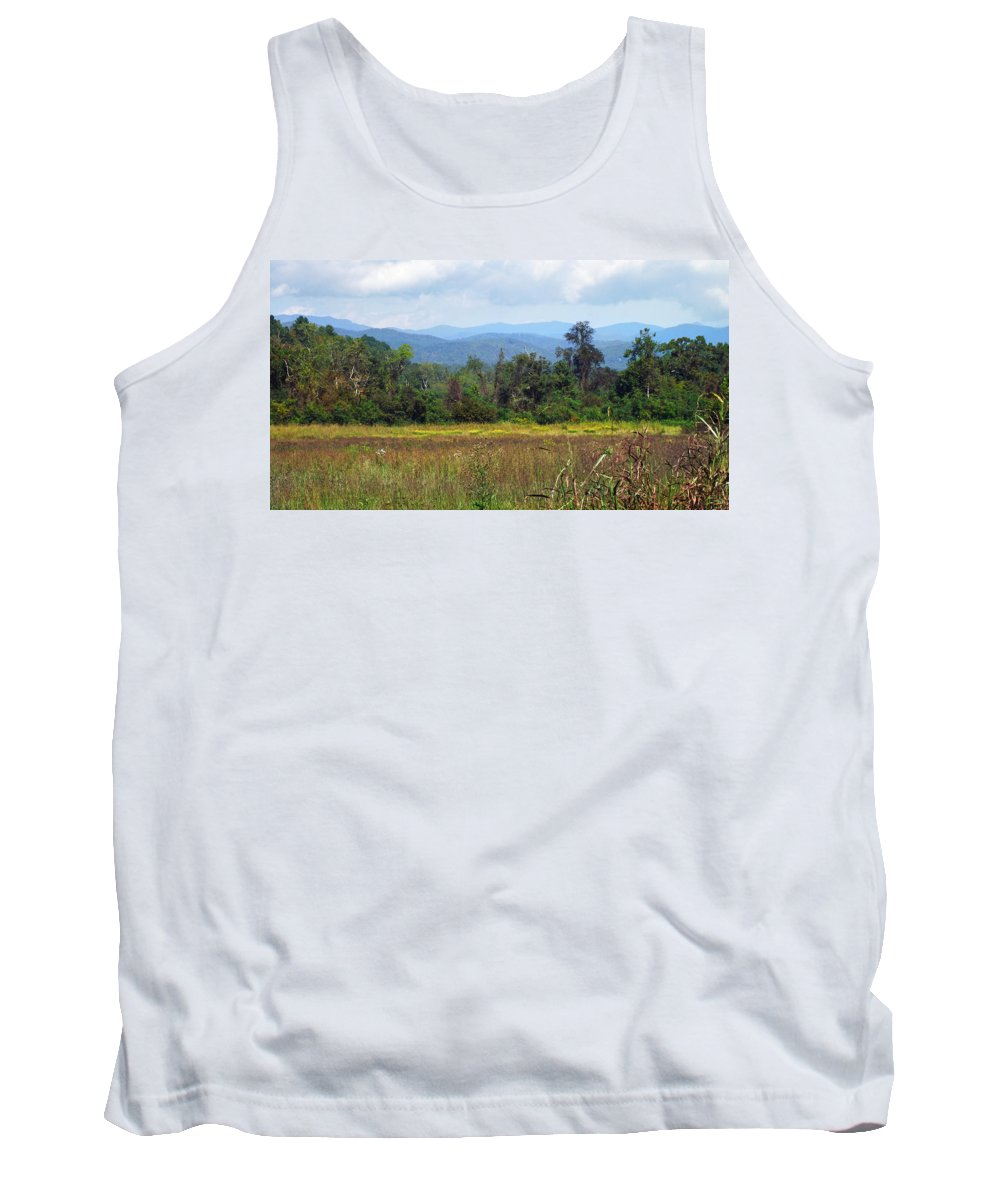Landscapes Tank Top featuring the photograph Mountain Valley Near Brevard by Duane McCullough