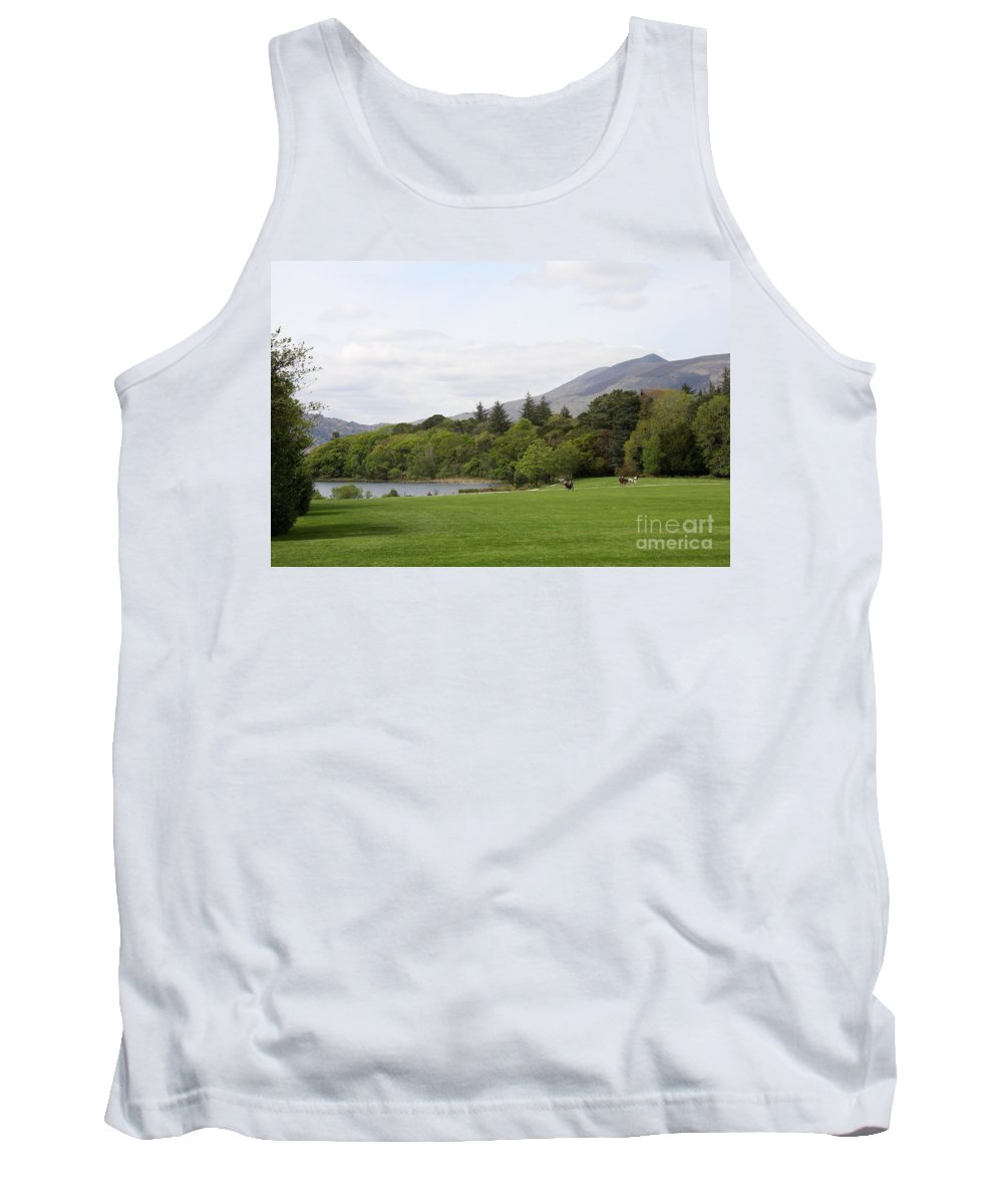 Muckross Lake Tank Top featuring the photograph Muckross Lake And Garden by Christiane Schulze Art And Photography