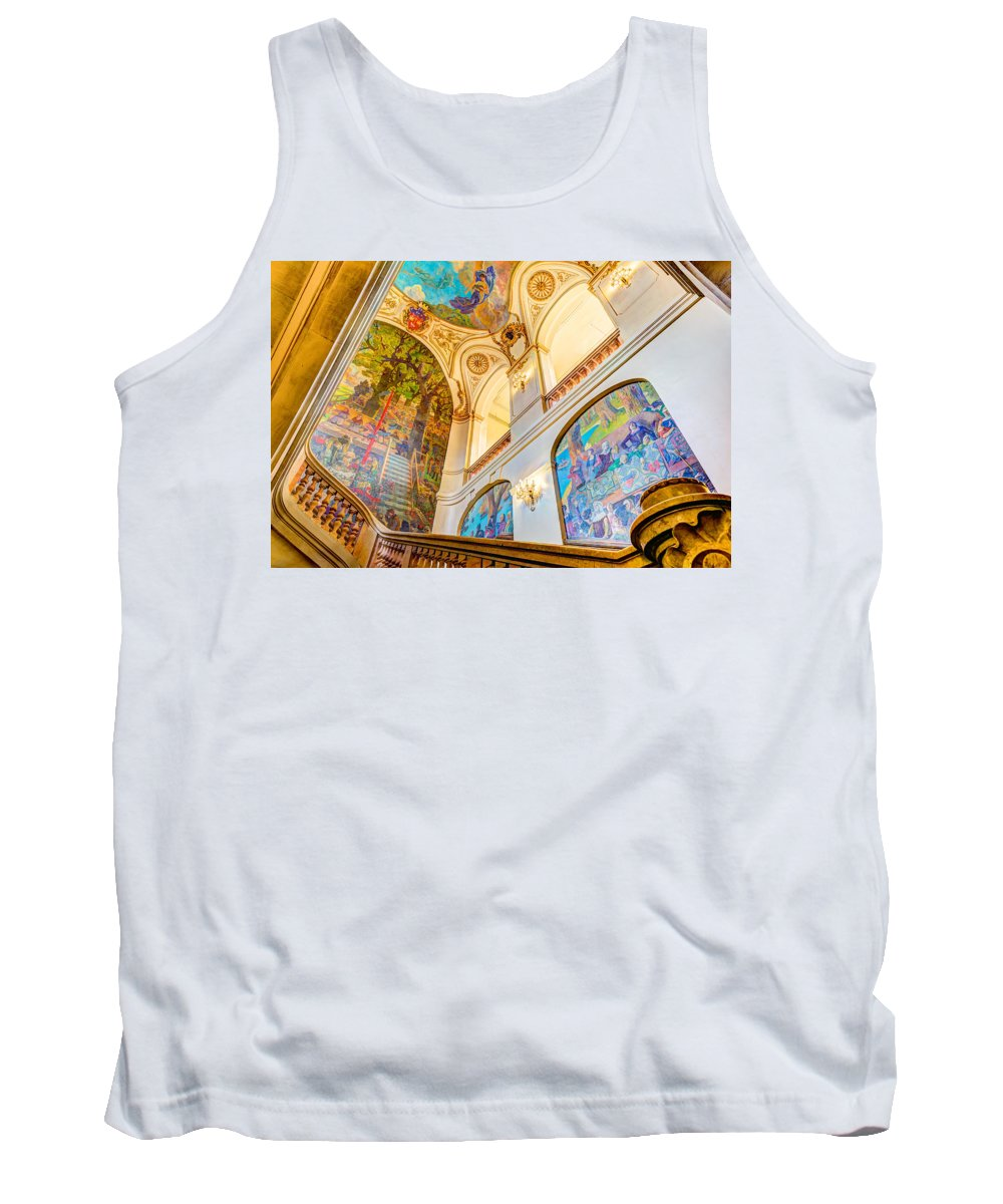 Art Tank Top featuring the photograph Murals Of Capitole De Toulouse by Semmick Photo