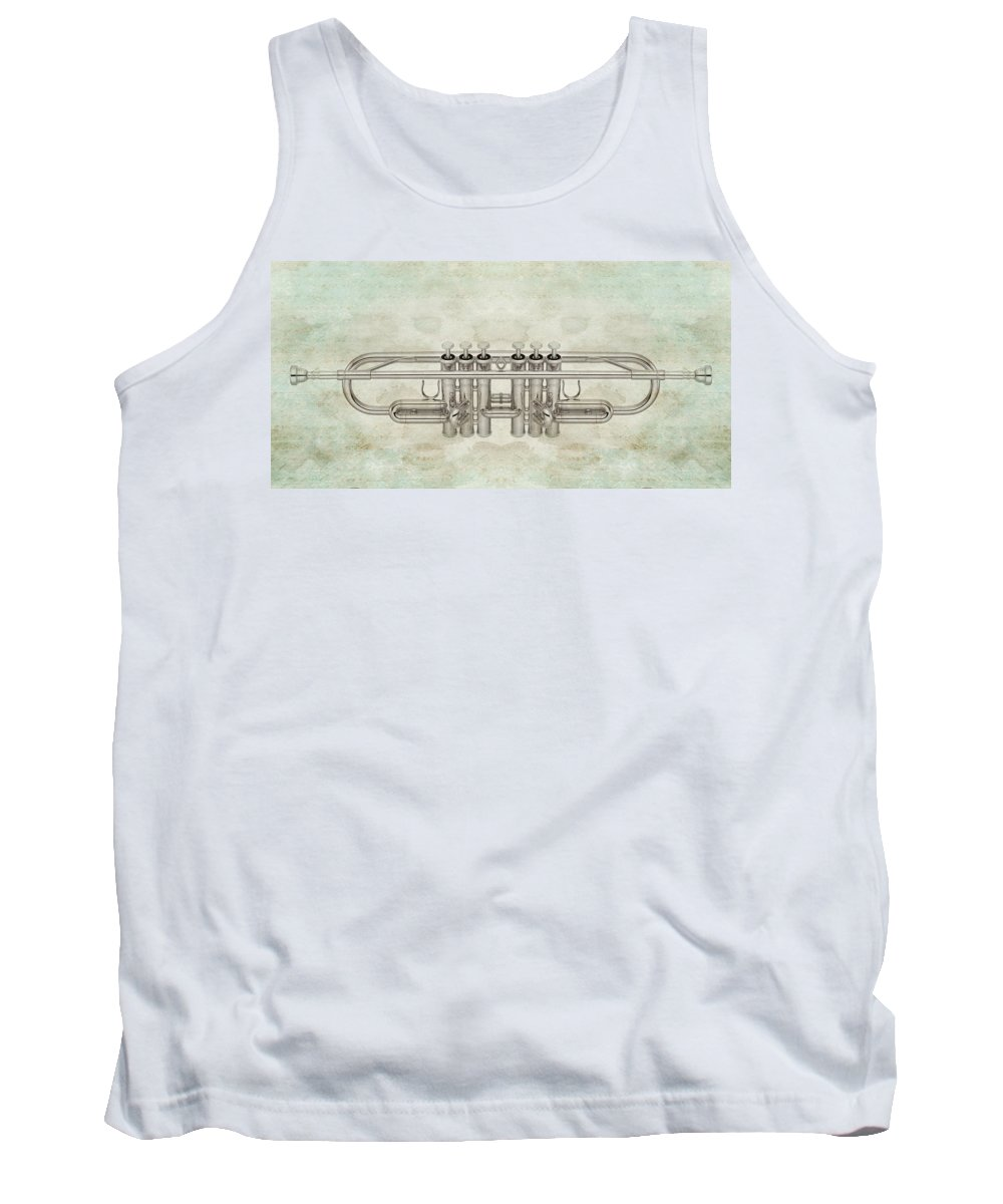 Music Tank Top featuring the digital art Musikalis - D01a by Variance Collections