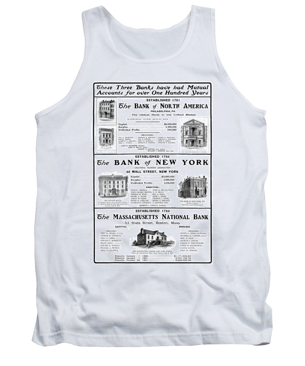 1901 Tank Top featuring the painting Mutual Funds, 1901 by Granger