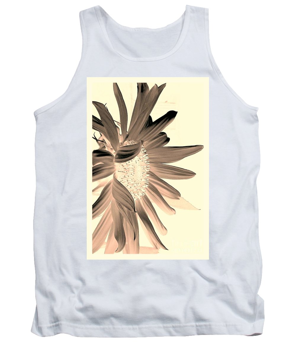 Sunflower Tank Top featuring the photograph My First Sunflower by Jacqueline McReynolds