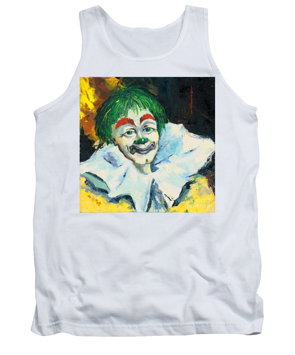 Canvas Prints Tank Top featuring the painting My Friend by Elisabeta Hermann