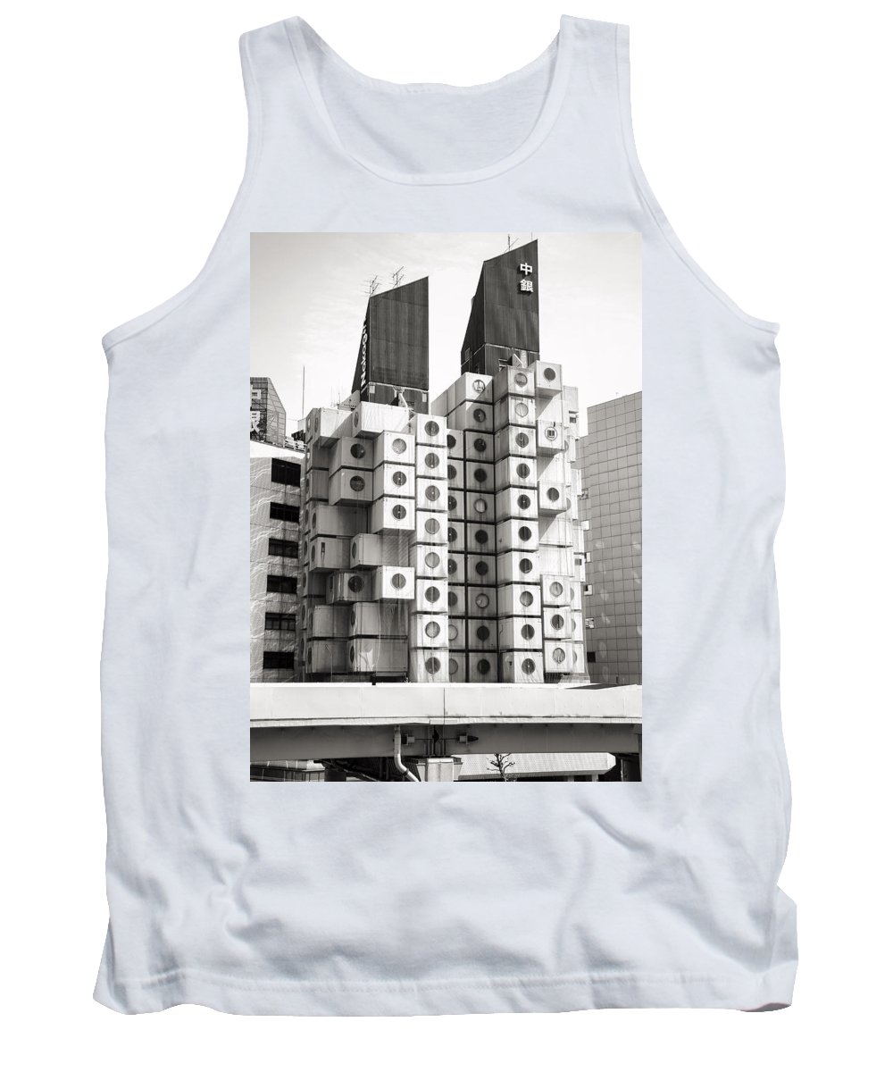 Street Photography Tokyo Tank Top featuring the photograph Nakagin Capsule Tower In Tokyo by For Ninety One Days