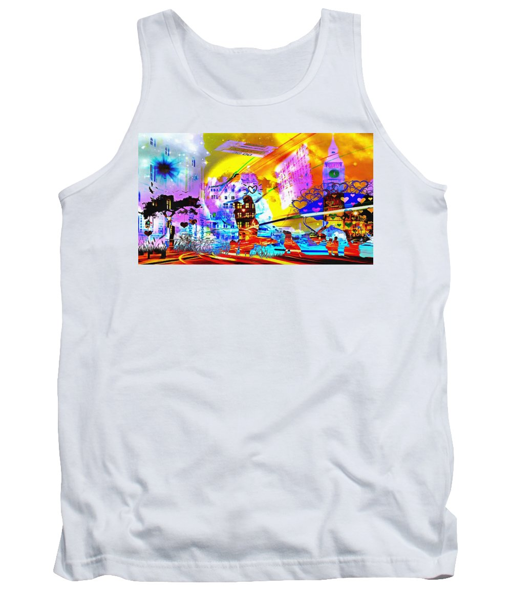 Nasdaq Whoo What When Where And Why Tank Top featuring the digital art Nasdaq Who What When Where And Why by Catherine Lott