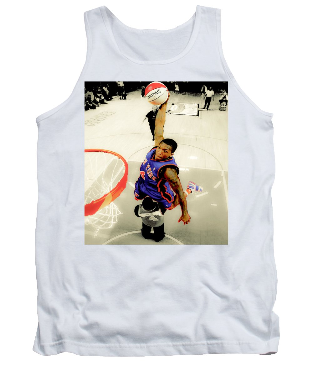 Nathaniel Cornelius Tank Top featuring the digital art Nate Robinson by Brian Reaves