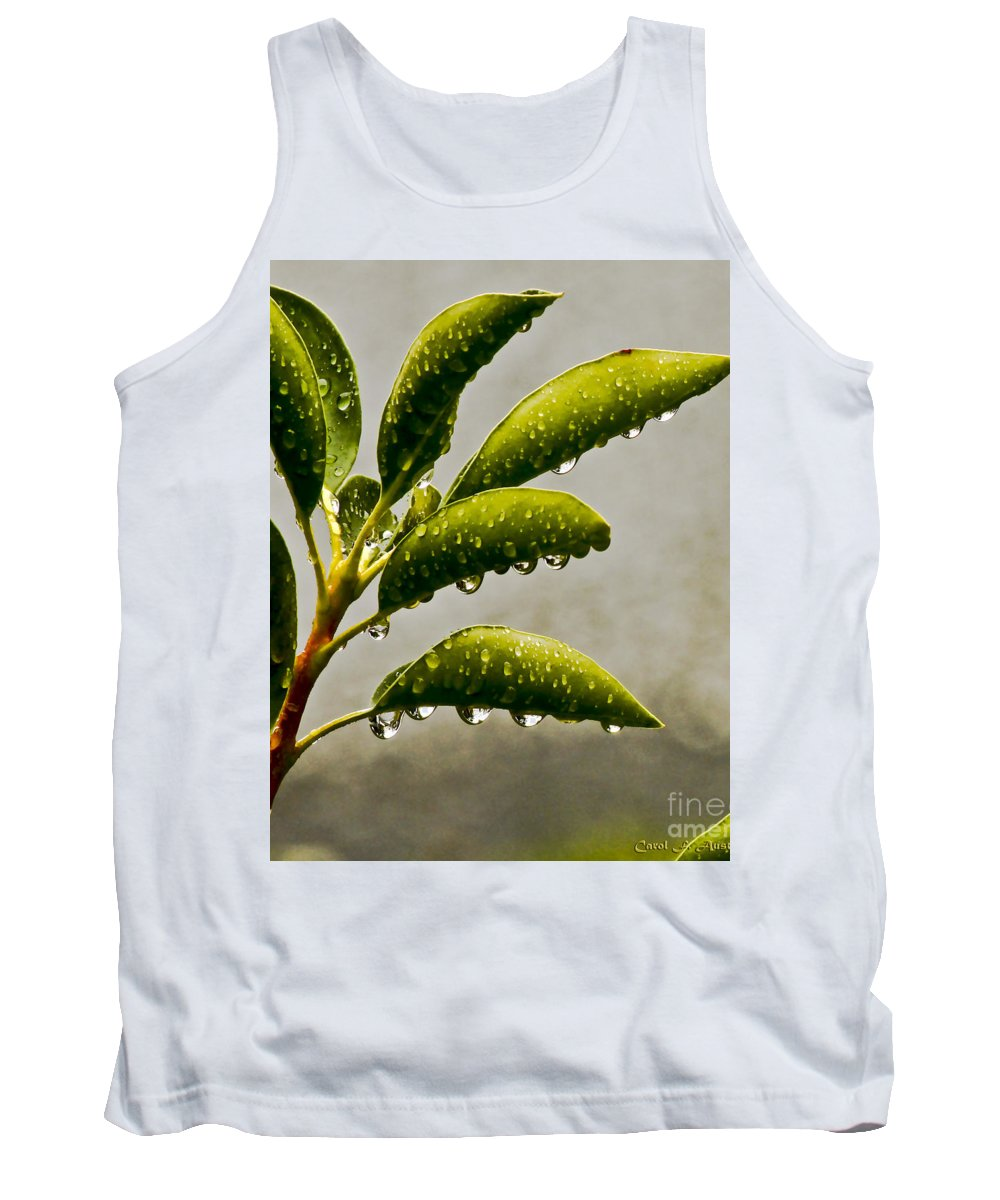 Nature Tank Top featuring the photograph Natures Teardrops by Carol F Austin