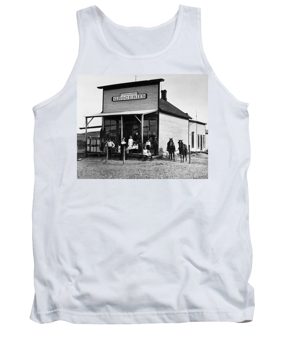 1903 Tank Top featuring the photograph Nebraska Grocery Store by Granger
