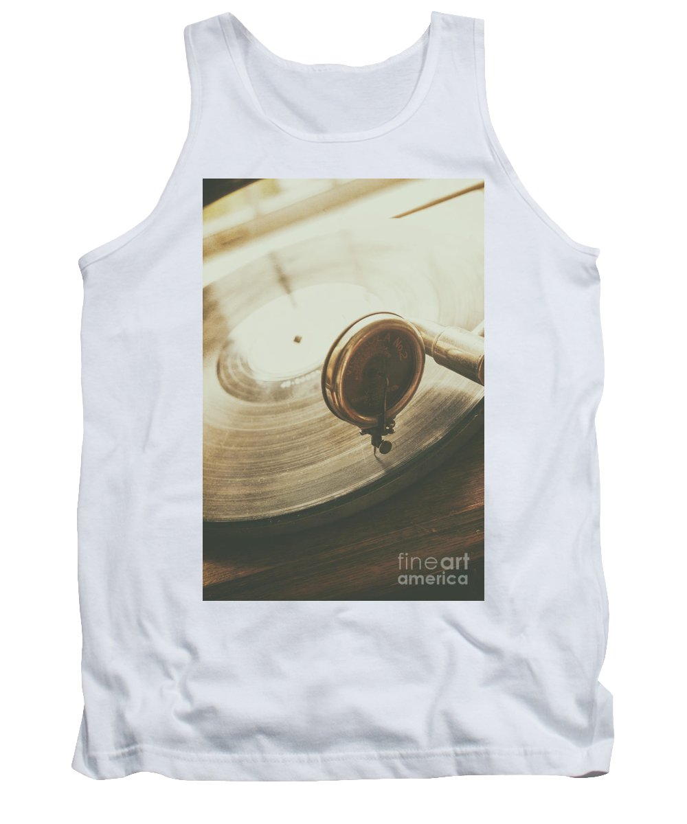Record Tank Top featuring the photograph Needle On The Record by Margie Hurwich