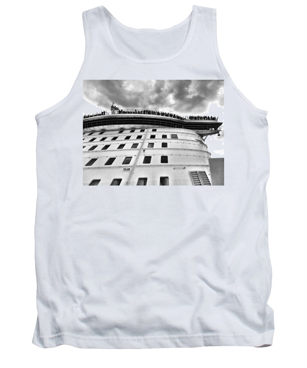 Beginning Tank Top featuring the photograph New Cruise New Crowds New Clouds by David Coleman