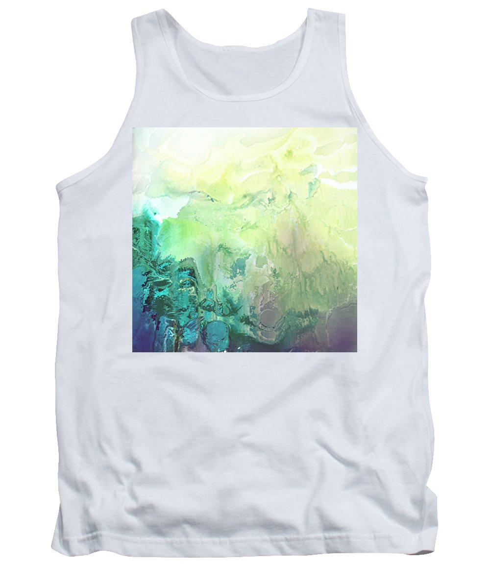 Realm Tank Top featuring the painting New Found Realm by Kume Bryant