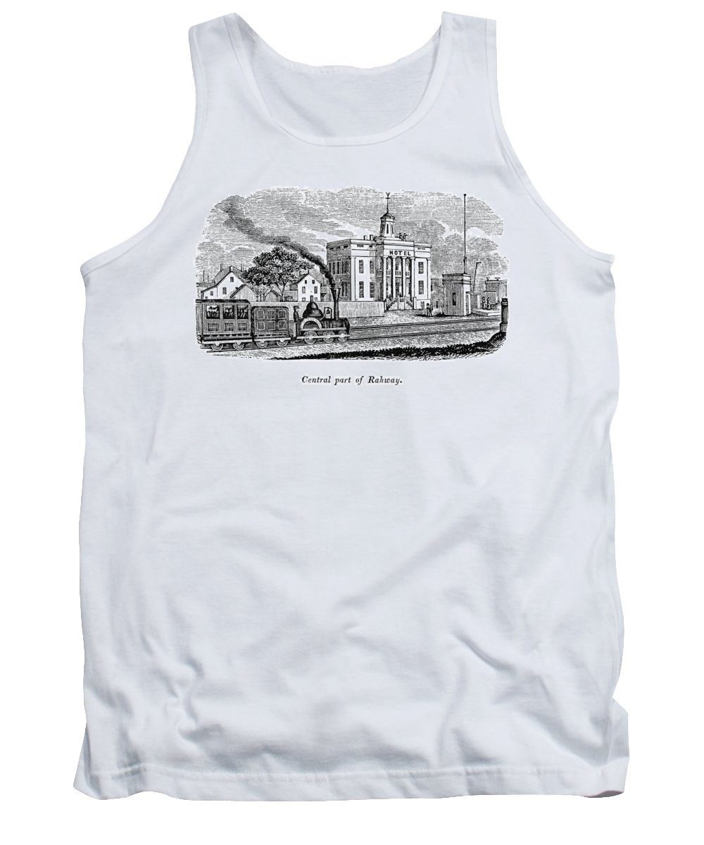 1844 Tank Top featuring the painting New Jersey Rahway, 1844 by Granger