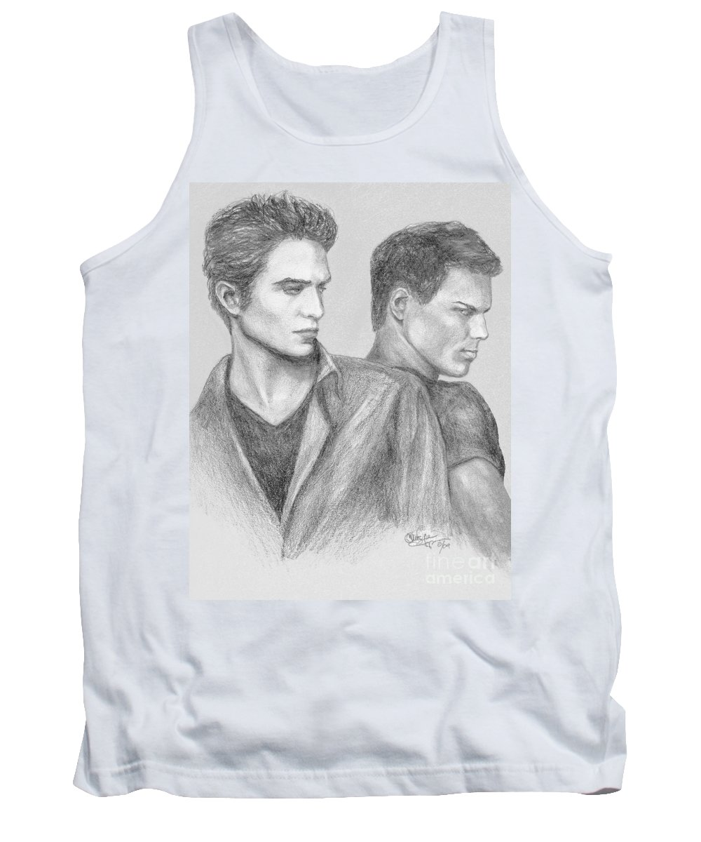 Edward Tank Top featuring the drawing New Moon by Christine Jepsen