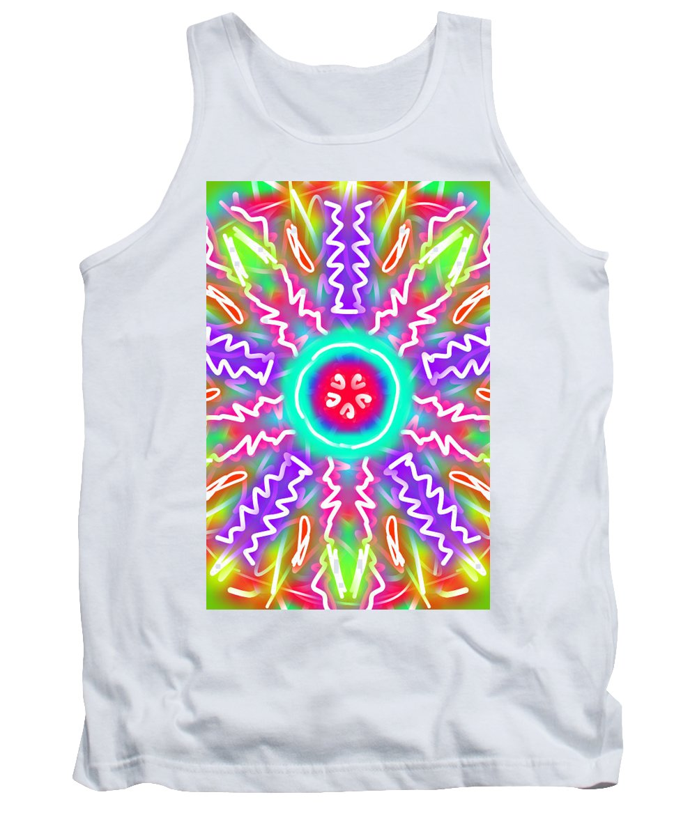 Kaleidoscope Tank Top featuring the painting New Toy 3 by Bruce Nutting