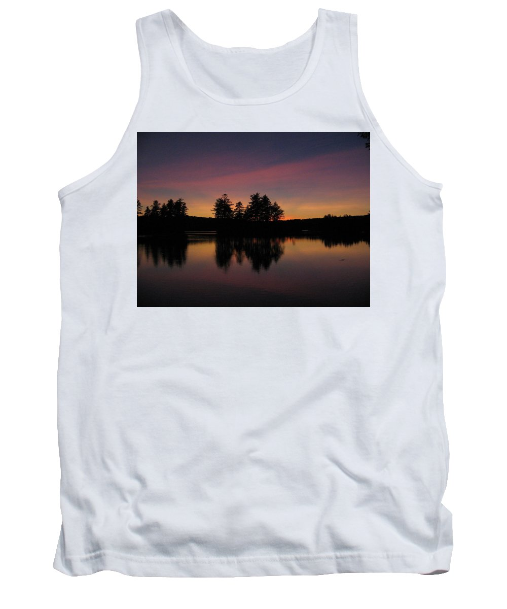 Sunset Tank Top featuring the photograph Summer Sunset In Nh by Mary Vinagro