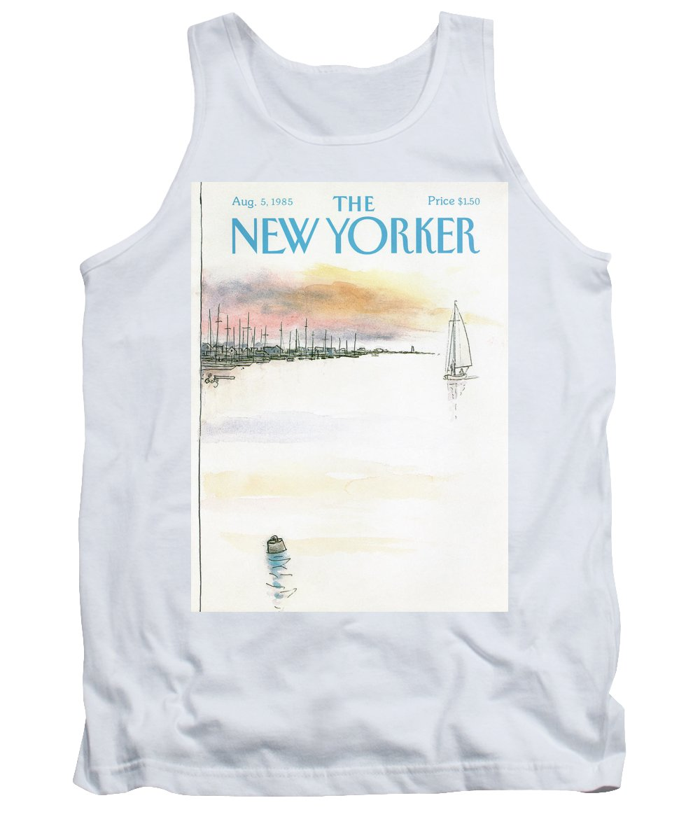 Nature Tank Top featuring the painting New Yorker August 5th, 1985 by Arthur Getz