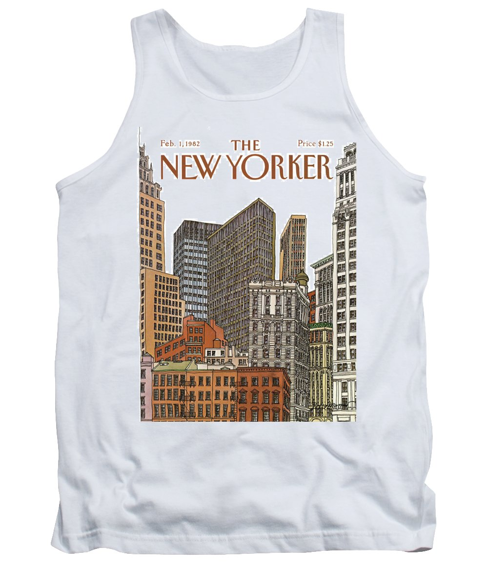 Business Tank Top featuring the painting New Yorker February 1st, 1982 by Roxie Munro