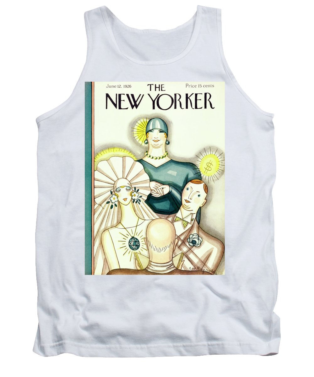 Illustration Tank Top featuring the painting New Yorker June 12 1926 by Stanley W. Reynolds