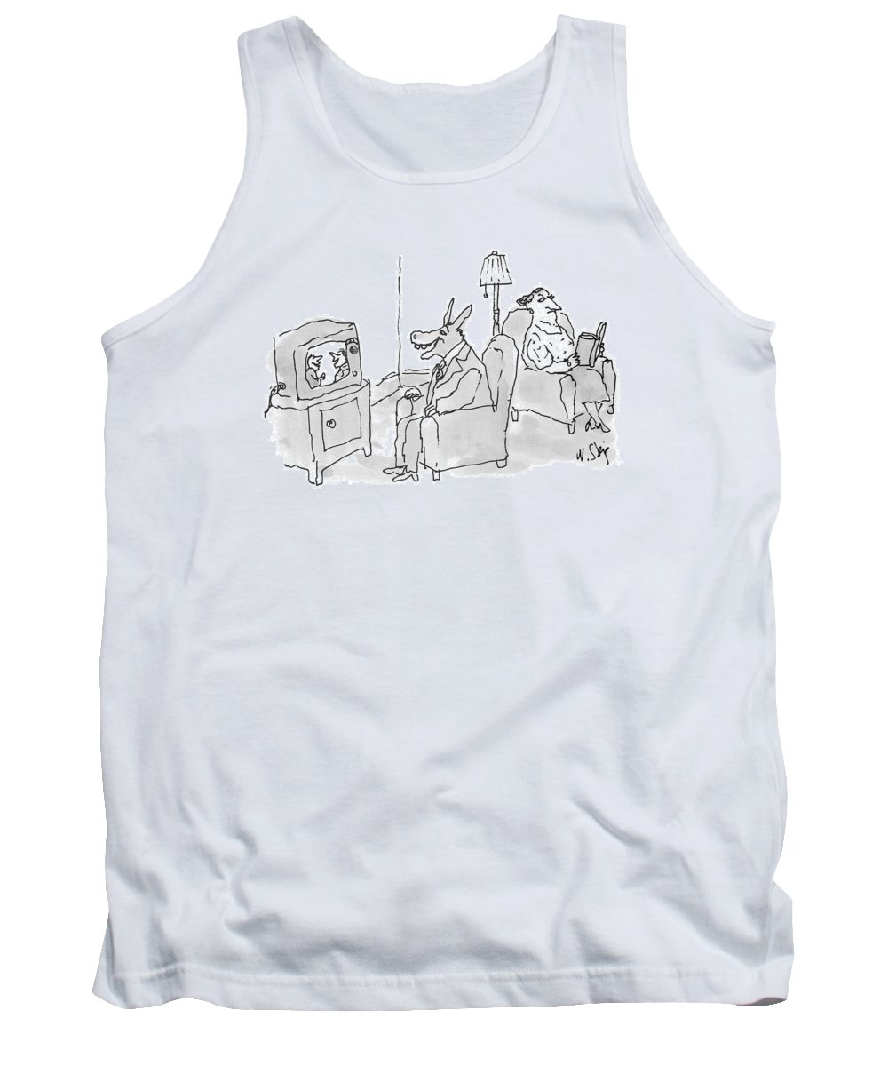 (husband Tank Top featuring the drawing New Yorker June 28th, 1993 by William Steig