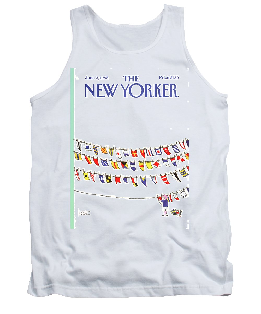 Leisure Tank Top featuring the painting New Yorker June 3rd, 1985 by Arnie Levin