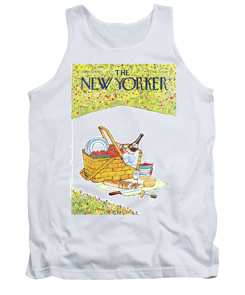 Food Tank Top featuring the painting New Yorker June 5th, 1978 by Arthur Getz