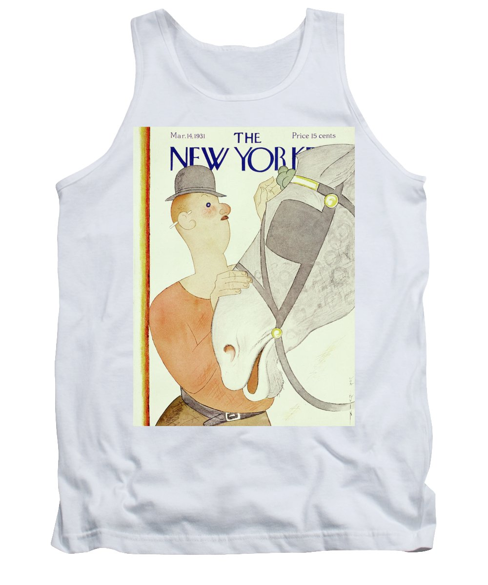 Illustration Tank Top featuring the painting New Yorker March 14 1931 by Rea Irvin