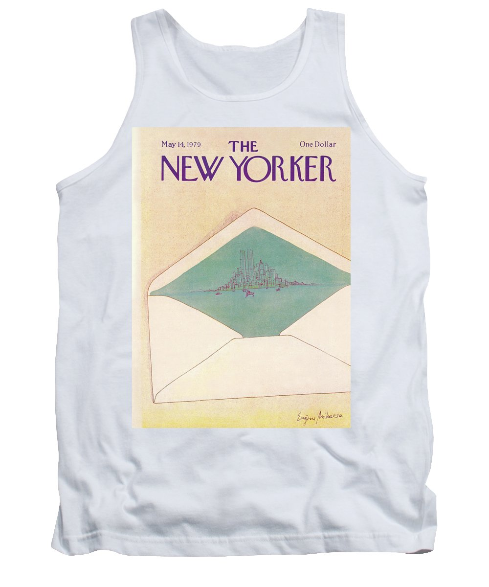 Eugene Mihaesco Emi Tank Top featuring the painting New Yorker May 14th, 1979 by Eugene Mihaesco