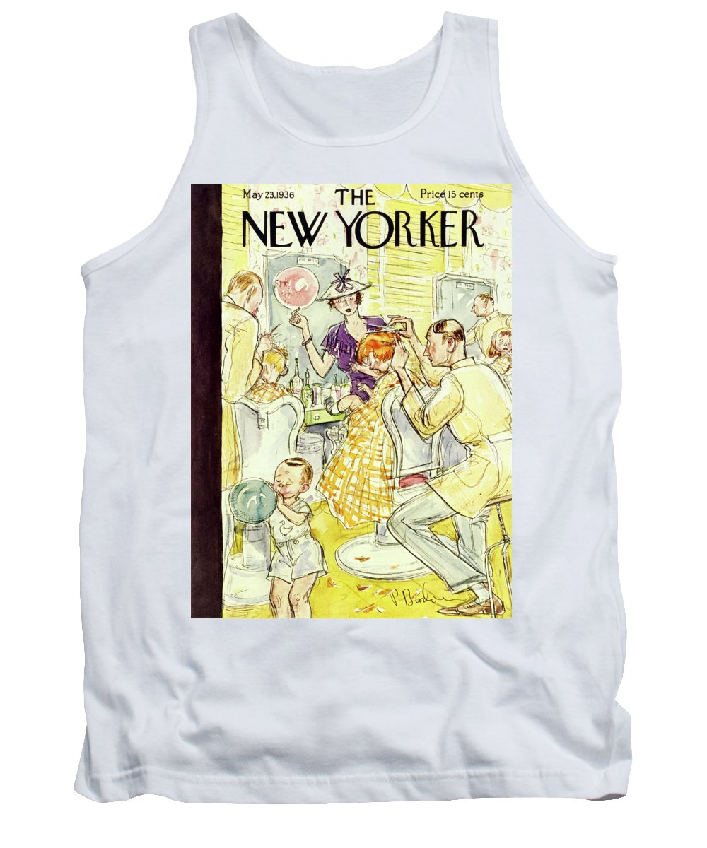 Boy Tank Top featuring the painting New Yorker May 23 1936 by Perry Barlow