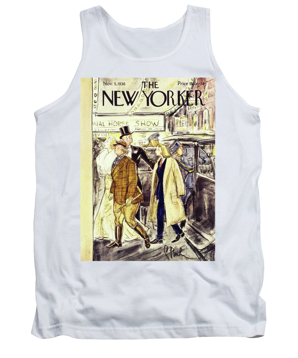 National Horse Show Tank Top featuring the painting New Yorker November 5 1938 by Perry Barlow